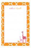 Mod Giraffe Girl Notepad