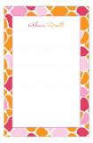 Pink and Orange Mod Giraffe Girl Notepad