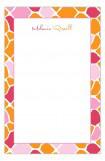 Pink and Orange Mod Giraffe Girl Notepad