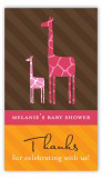 Mod Giraffe Girl Rectangular Gift Tag