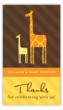 Mod Giraffe Neutral Rectangular Gift Tag
