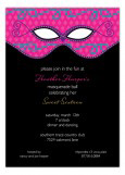 Mod Masquerade Sweet 16 Invitations