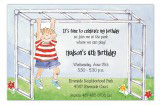 Monkey Bars Boy Invitation