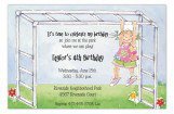 Monkey Bars Girl Invitation