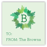 Monogram Wreath Gift Tag