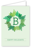 Monogram Wreath Greeting Card