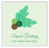 Monogram Wreath Square Sticker