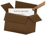 Moving Box Invitation