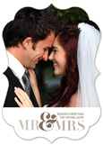 Mr + Mrs Save the Date Photo Cards