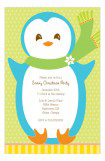 Mr. Penguin Snowy Christmas Party Invitation