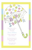 Multi Baby Umbrella Invitation