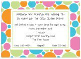 Multi Colors Bubbles Invitation