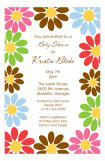 Multi Daisy Invitation
