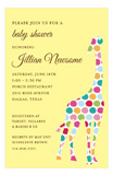 Multi Pom Pom Giraffe Invitation