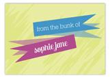 Name Banner Postcard