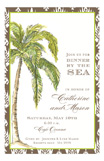 Natural Palm Invitation