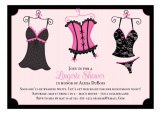 Naughty Nightie Lingerie Shower Invitations
