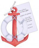 Die Cut Nautical Anchor Invitations