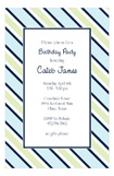 Navy Blue Tie Stripe Invitation