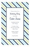 Navy Blue Tie Stripe Invitation
