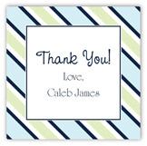Navy Blue Tie Stripe Square Sticker