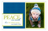 Navy Peace on Earth Photo Card