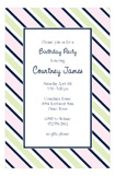 Navy Pink Tie Stripe Invitation
