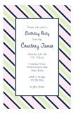 Navy Pink Tie Stripe Invitation