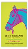 Neon Horse Calling Card