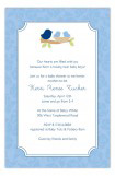 Nested Twin Boys Invitation