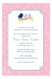 Nested Twin Girls Invitation