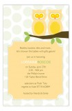 Neutral Twin Perched Owls Invitation