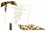 New Leopard Shoe Invitation