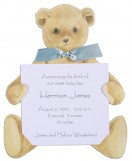 New Teddy Bear with Blue Ribbon