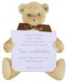 New Teddy Bear with Brown Ribbon