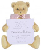 New Teddy Bear with Pink Ribbon