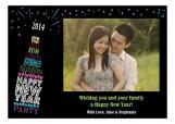 New Year Pop Photo Card