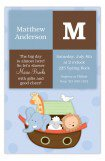Boy Squares Noahs Ark Baby Shower Invitations