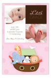 Noahs Ark Girl Squares Photo Card
