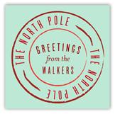 North Pole Greetings Square Sticker