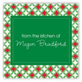 North Pole Pattern Square Sticker