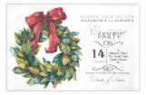 Magnolia Wreath Holiday Party Invitation