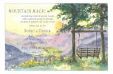 Valley Green Mountains Party Invitation