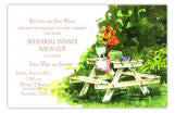 Picnic Table Summer Cookout Invitation