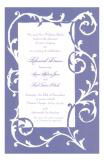 Vine Purple Invitation