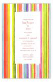 Summer Stripe Fiesta Party Invitation