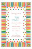 Jelly Bean Stripe Cute Rainbow Invitation
