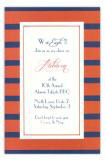 Orange and Navy Invitation