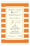 Orange and White Invitation