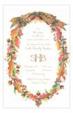 Oak Wreath Formal Party Invitation